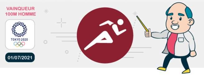 Finale du 100 mètres masculin JO