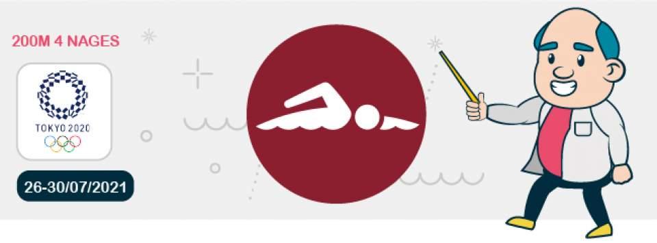 Pronostic 200 mètres 4 nages Jeux Olympiques Tokyo 2021